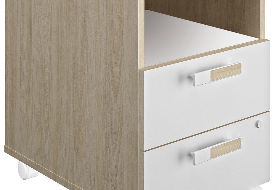 Ladeblok Artefact 2 van 62 cm hoog in eiken met wit | Gamillo Furniture