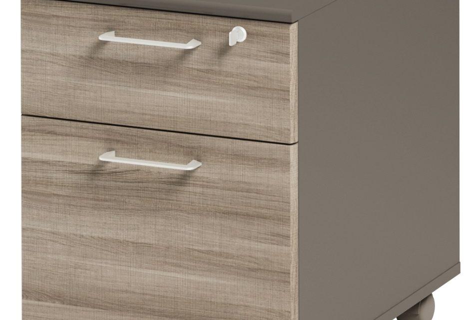 Ladeblok Jazz 1 van 60 cm hoog in grijs eiken met grijs | Gamillo Furniture