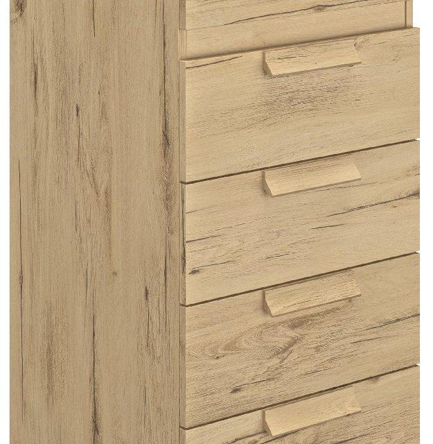 Ladekast Cyrus 102 cm hoog in Helvezia eiken | Gamillo Furniture