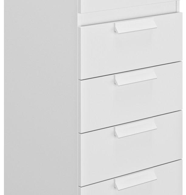 Ladekast Cyrus 102 cm hoog in wit | Gamillo Furniture