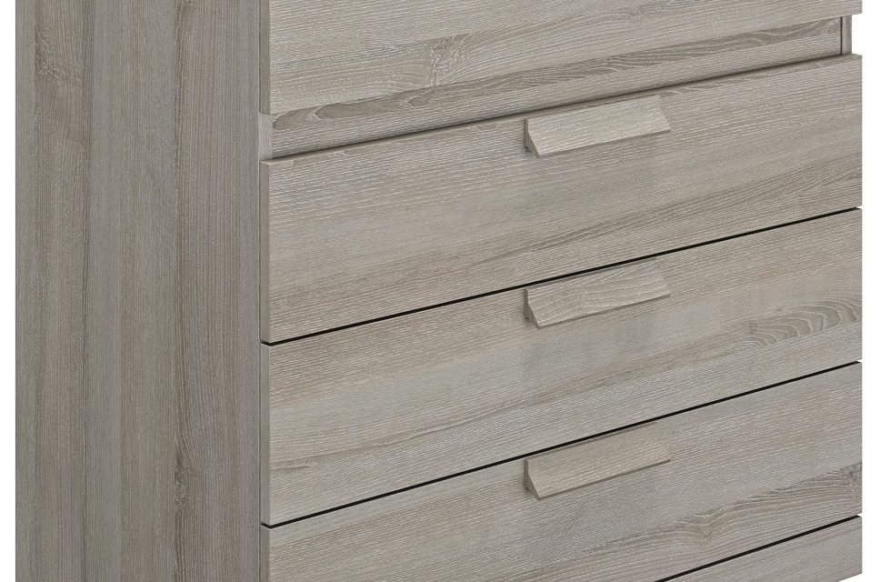 Ladekast Cyrus 81 cm hoog in grijs eiken | Gamillo Furniture