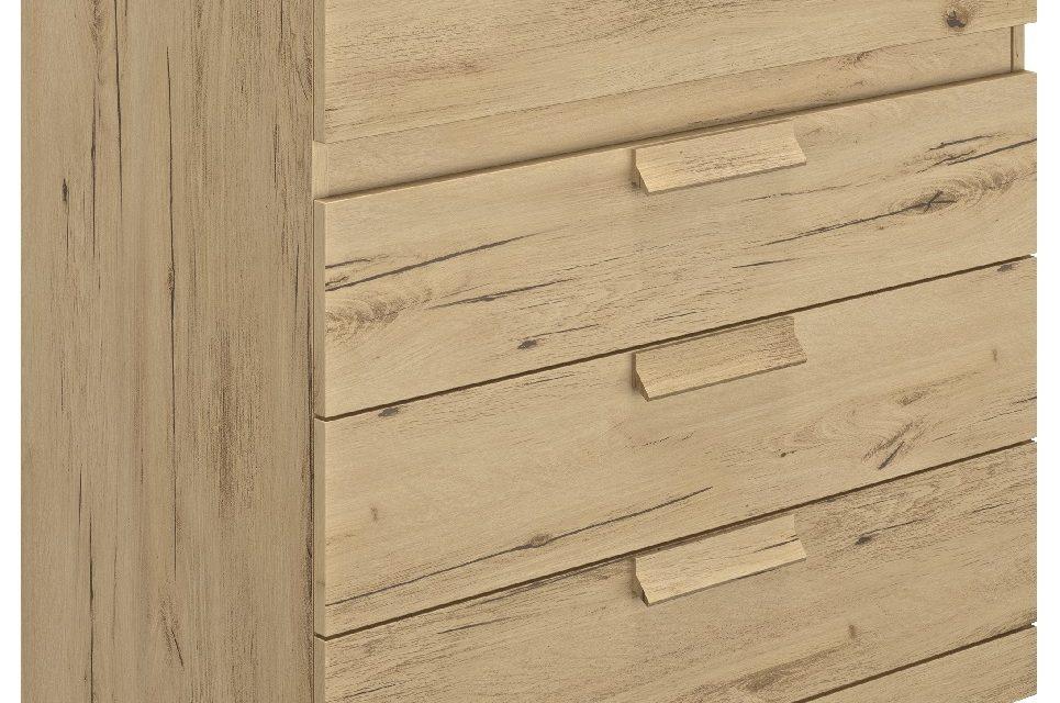 Ladekast Cyrus 81 cm hoog in helvezia eiken | Gamillo Furniture