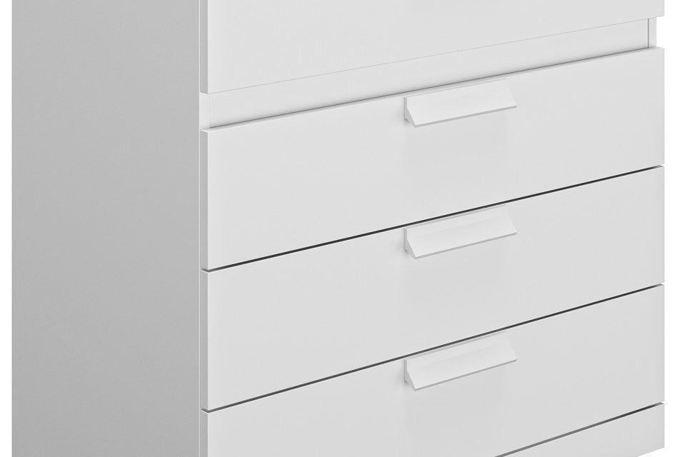 Ladekast Cyrus 81 cm hoog in wit | Gamillo Furniture