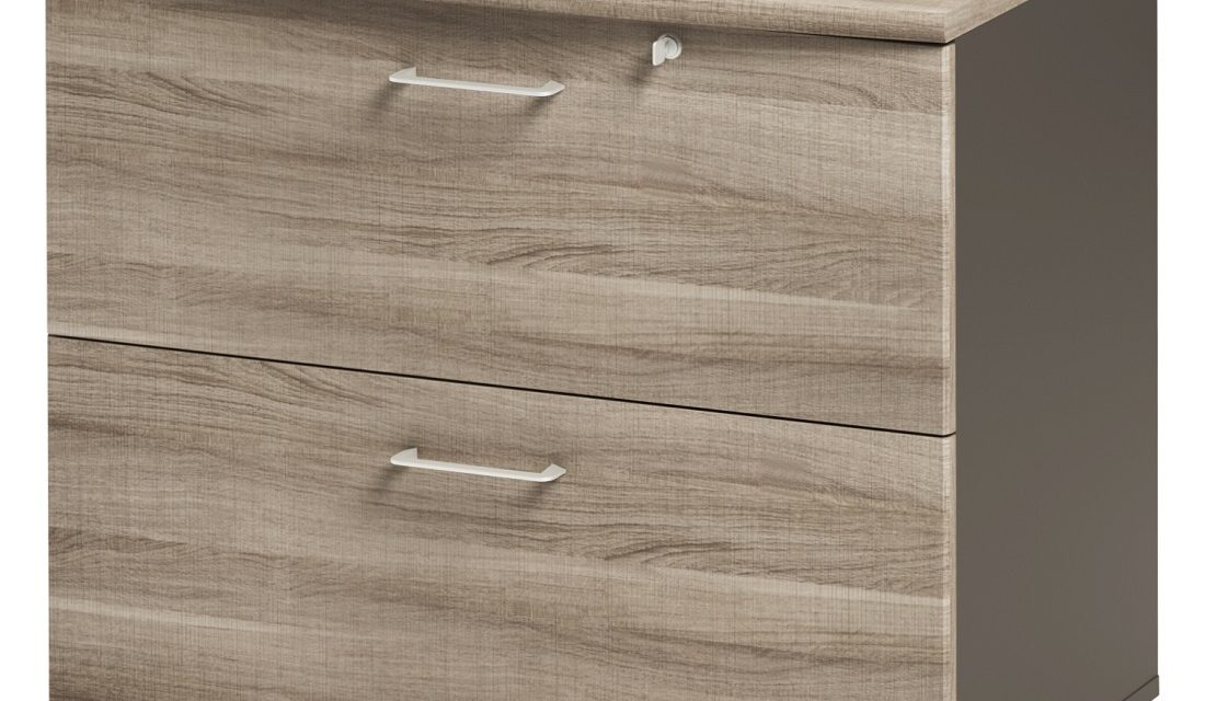 Ladekast Jazz 71 cm hoog in grijs eiken met grijs | Gamillo Furniture