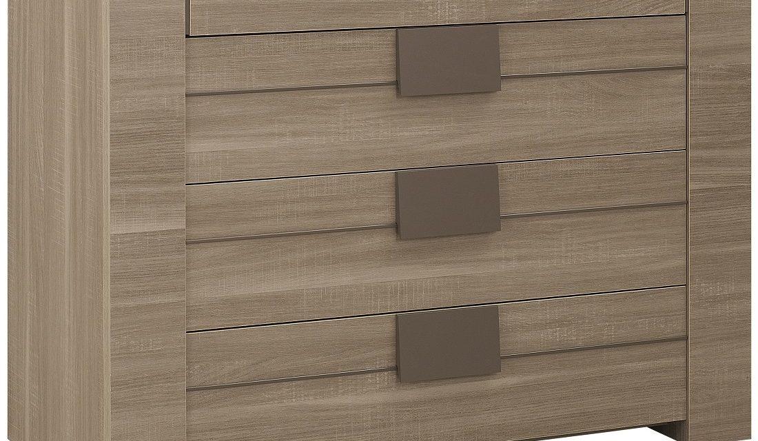 Ladekast Moka 81 cm hoog in houtskool eiken | Gamillo Furniture