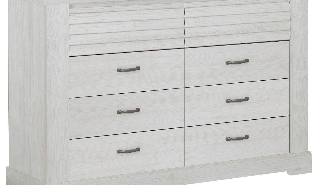 Ladekast Thelma 151 cm breed in gekalkte kastanjehout | Gamillo Furniture