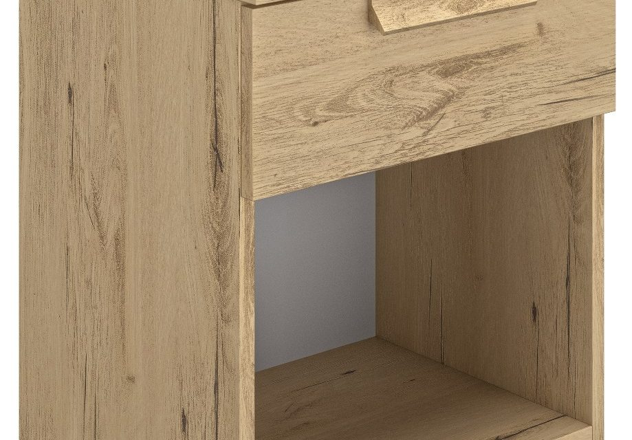 Nachtkastje Cyrus 50 cm hoog in helvezia eiken | Gamillo Furniture