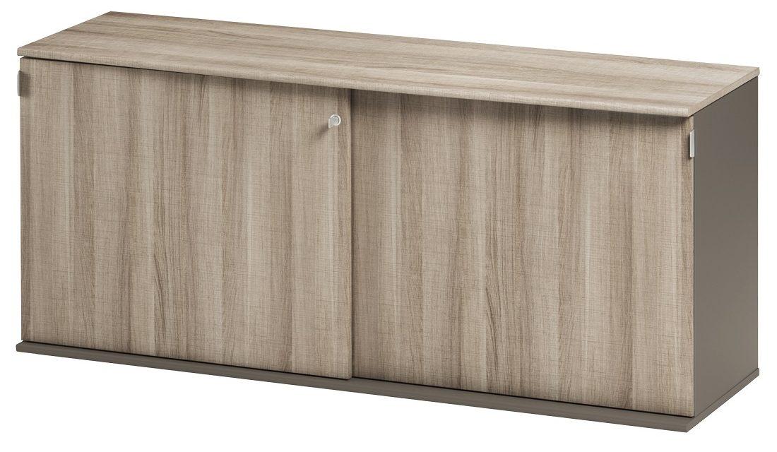 Opbergkast Jazz 160 cm breed in grijs eiken met grijs | Gamillo Furniture