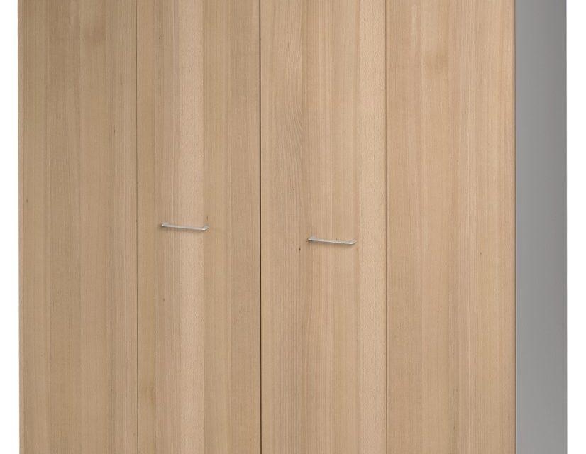 Opbergkast Jazz 211 cm hoog in beuken met licht grijs | Gamillo Furniture