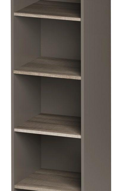 Open Boekenkast Jazz 1 van 183 cm hoog in grijs eiken met grijs | Gamillo Furniture