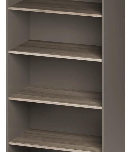 Open Boekenkast Jazz 2 van 183 cm hoog in grijs eiken met grijs | Gamillo Furniture