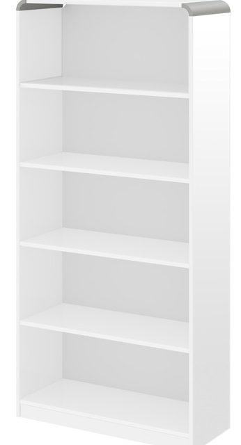 Open Boekenkast Murano 190 cm hoog in hoogglans wit | Hubertus Meble