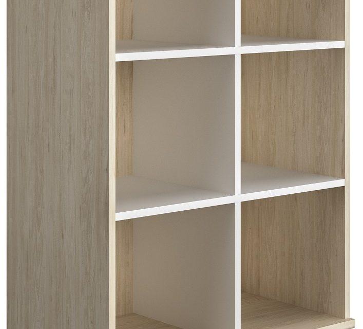 Open boekenkast Artefact 126 cm hoog in eiken | Gamillo Furniture