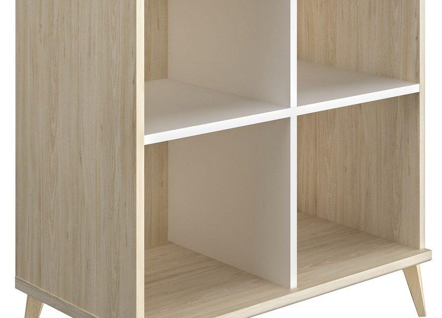 Open boekenkast Artefact 90 cm hoog in eiken | Gamillo Furniture