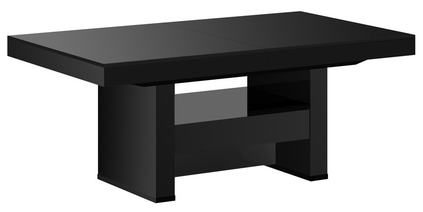 Salontafel / Eettafel Aversa Lux 120 cm breed in hoogglans zwart   Hubertus Meble