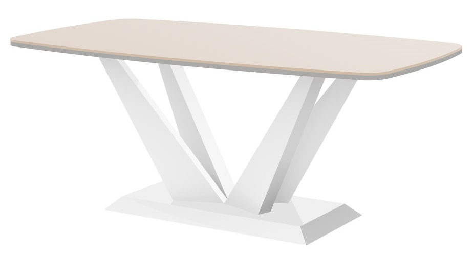 Salontafel Perfecto mini 125 cm breed in hoogglans cappuccino met wit | Hubertus Meble