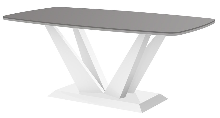 Salontafel Perfecto mini 125 cm breed in hoogglans grijs met wit | Hubertus Meble