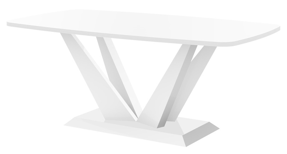 Salontafel Perfecto mini 125 cm breed in hoogglans wit | Hubertus Meble