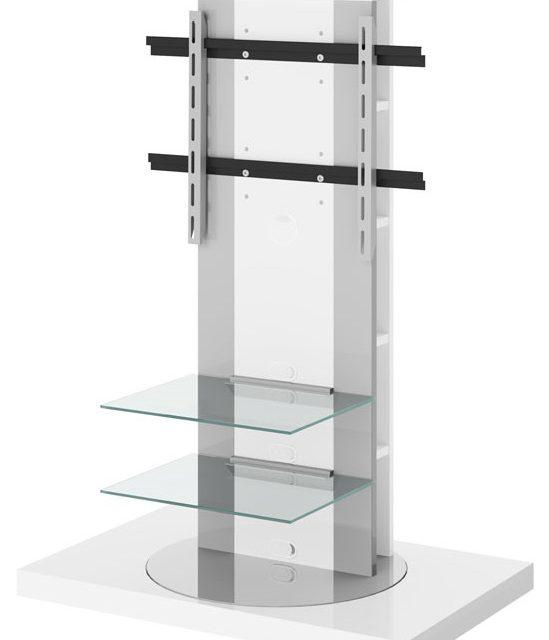 Tv-meubel Roma 2 van 126 cm hoog in hoogglans wit | Hubertus Meble