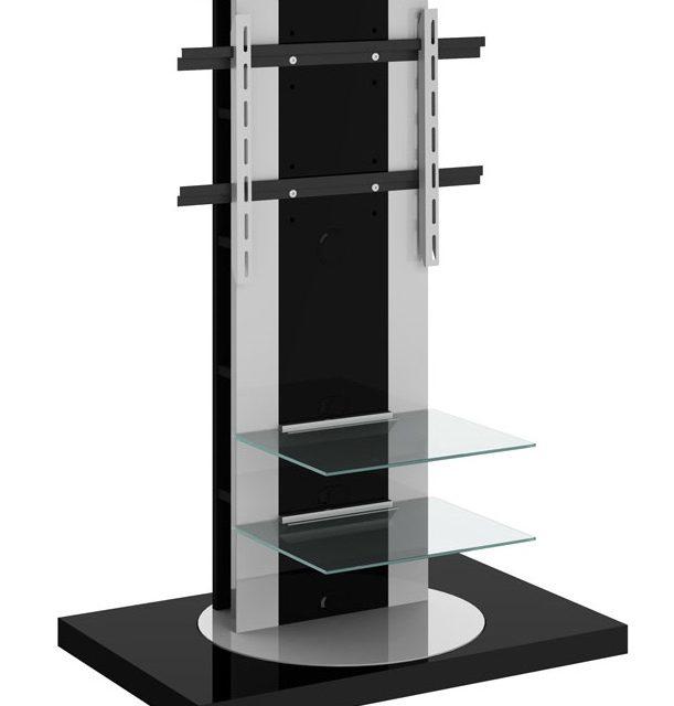 Tv meubel Roma 2 van 126 cm hoog in hoogglans zwart   Hubertus Meble