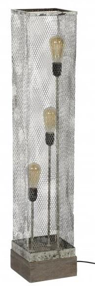 Vloerlamp rechthoek Mesh 3L van 110 cm hoog – Verweerd koper | Zaloni