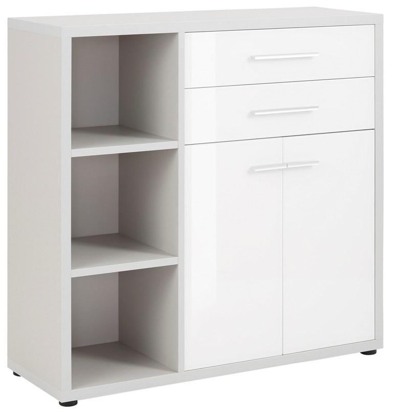Boekenkast Banco 110 cm hoog in platina grijs met wit | Bermeo