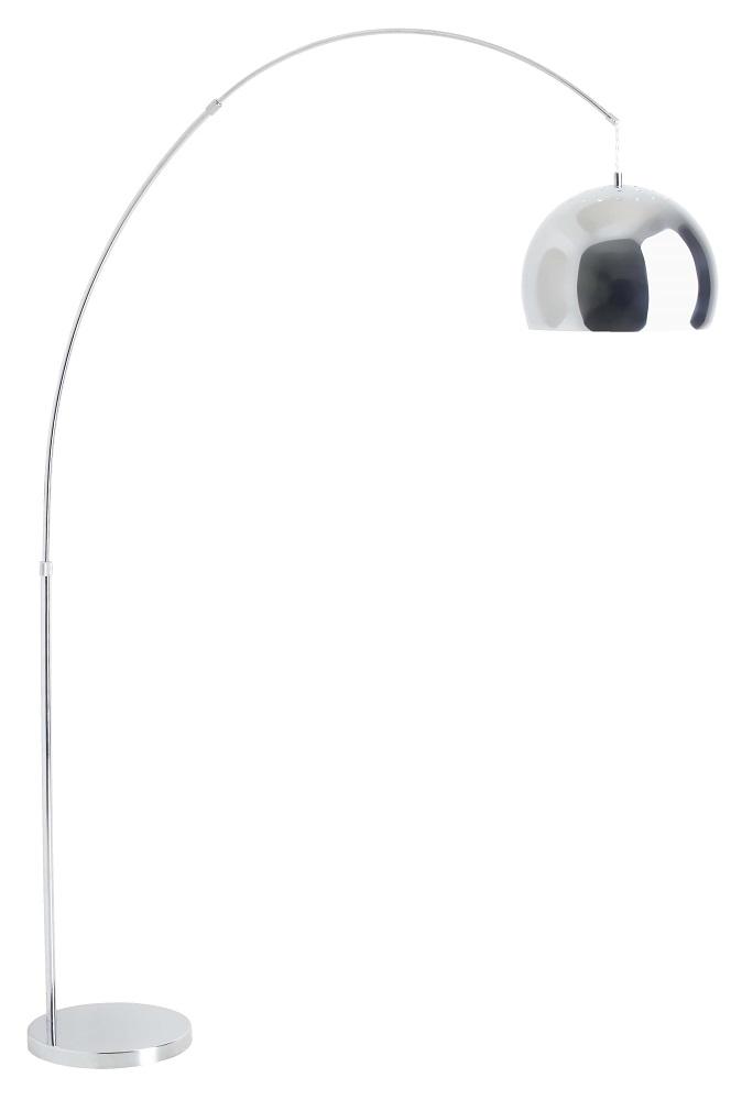 Booglamp Nereide 202 cm hoog 1xE27 100Watt in Chroom | Brilliant
