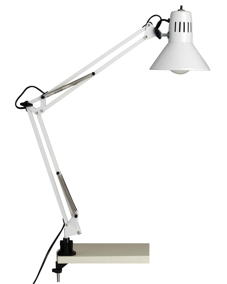 Bureaulamp Bobbie 1xE27 60Watt in wit | Brilliant