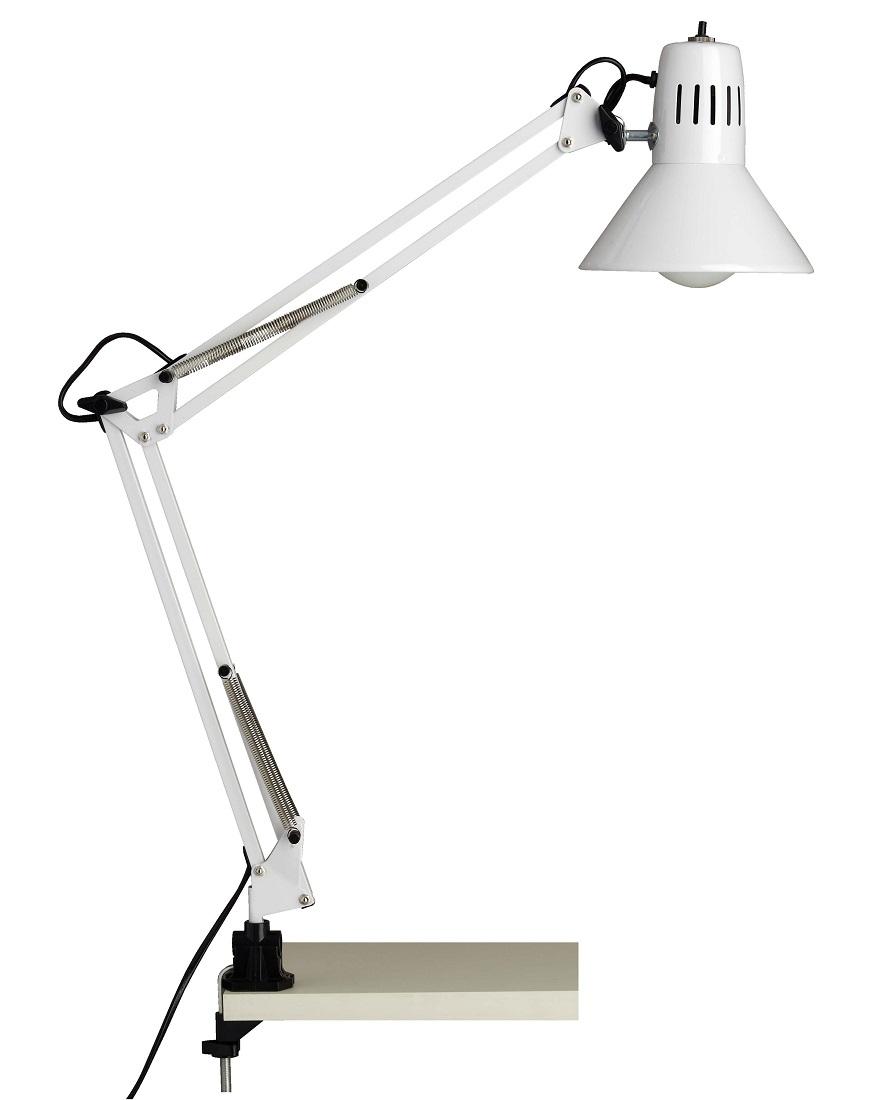 Bureaulamp Bobbie 1xE27 60Watt in wit | Brilliant