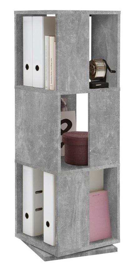 Draaikast Tower 108 cm hoog in grijs beton | FD Furniture