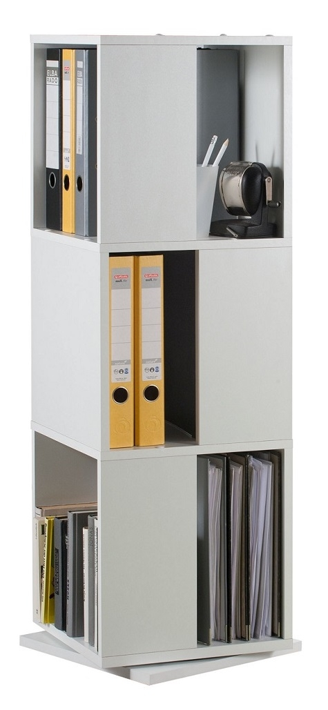 Draaikast Tower 108 cm hoog in wit | FD Furniture
