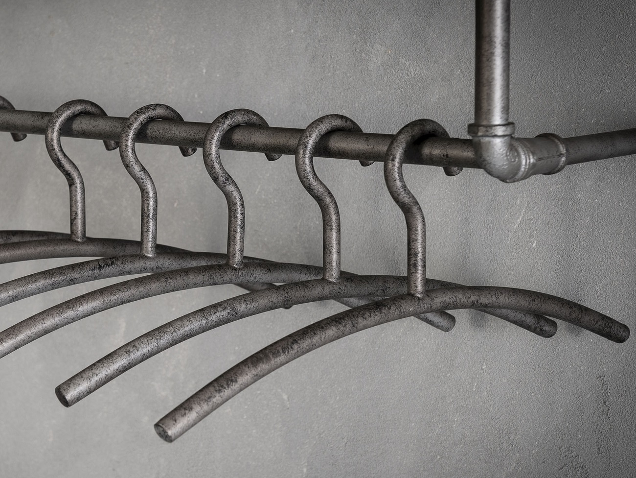 Garderobehanger set Factory 6 Stuks in oud zilver | Zaloni