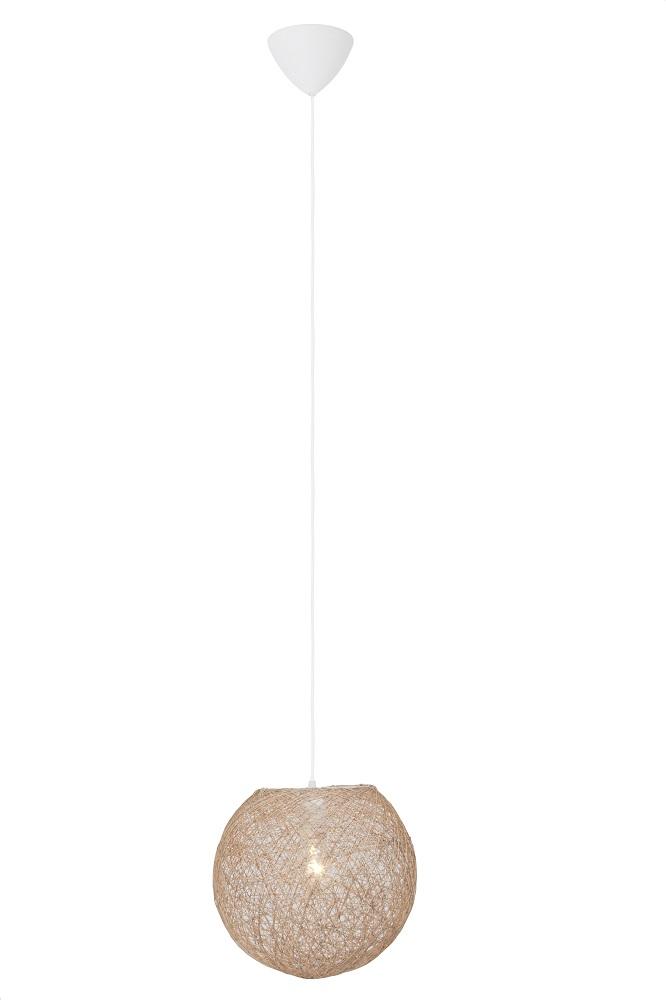 Hanglamp Bumble 140 cm hoog 1xE27 60Watt in beige | Brilliant