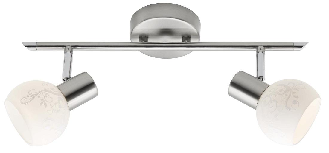 Plafondlamp Boni 2xE14 max 40Watt in chroom met wit | Brilliant
