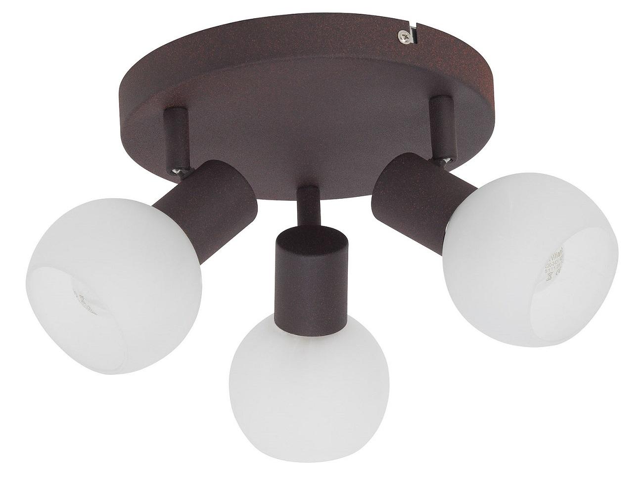 Plafondlamp Gobi 3xE14 max 40Watt in bruin met wit | Brilliant