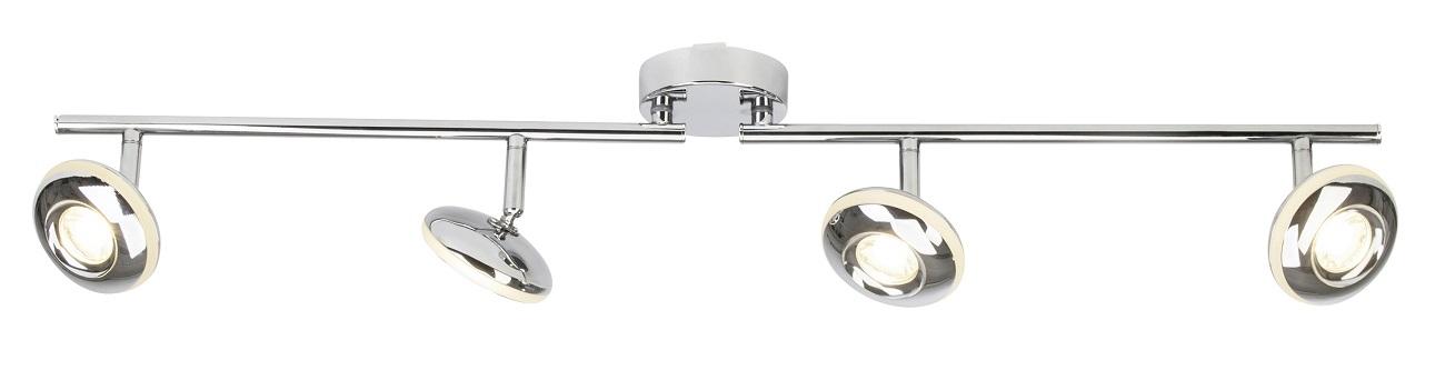 Plafondlamp Morel Led 4x5Watt in chroom | Brilliant
