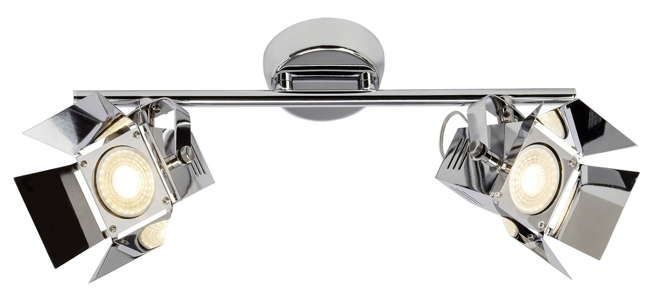 Plafondlamp Move 2xGU10 max 5Watt in chroom | Brilliant