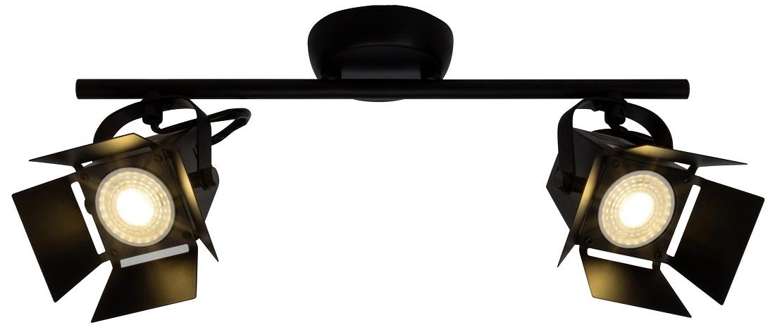 Plafondlamp Move 2xGU10 max 5Watt in mat zwart | Brilliant