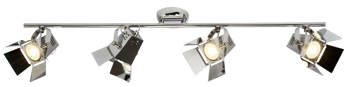 Plafondlamp Move 4xGU10 max 5Watt in chroom | Brilliant