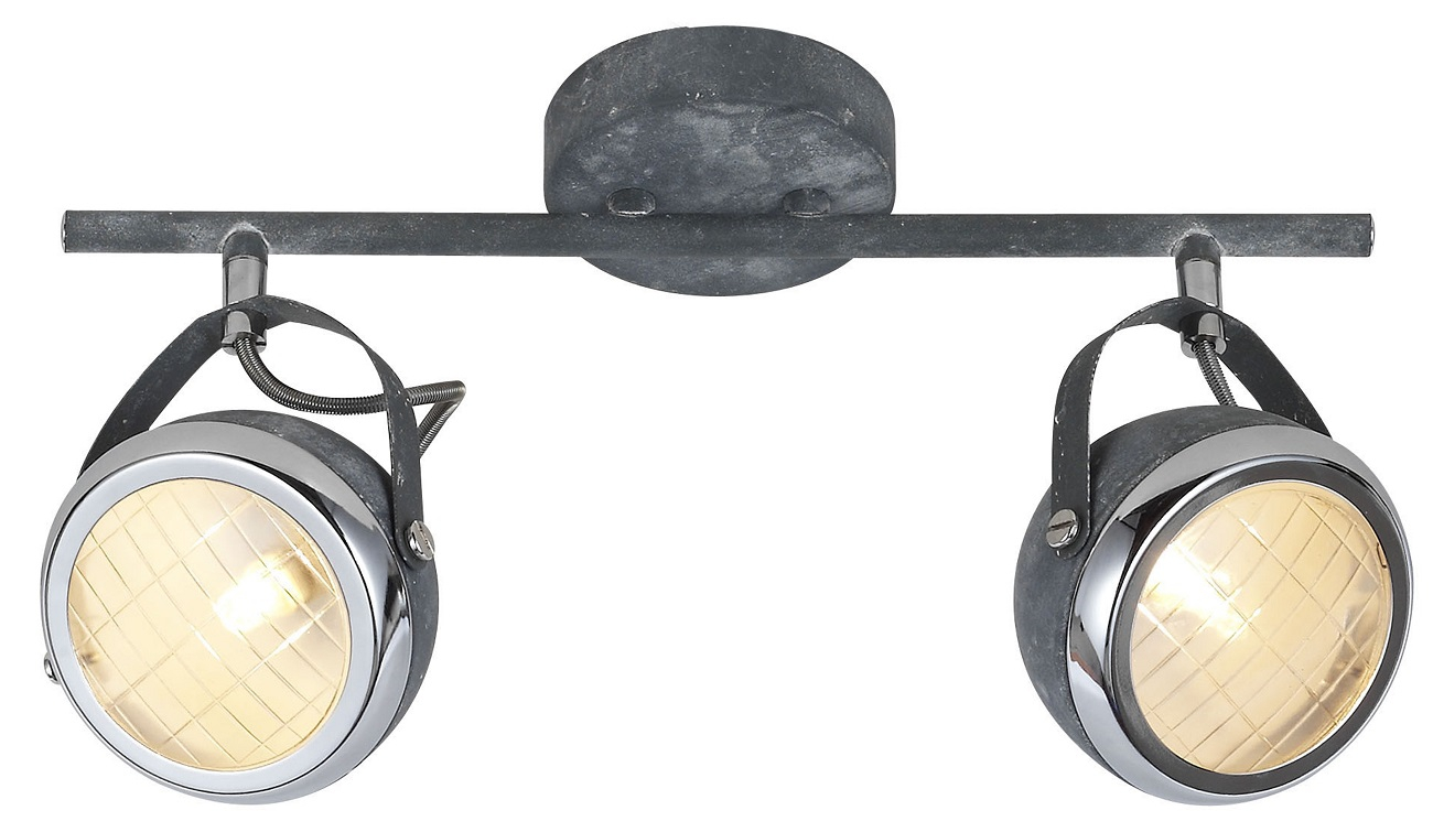 Plafondlamp Relax 2xG9 max 33Watt in grijs beton | Brilliant