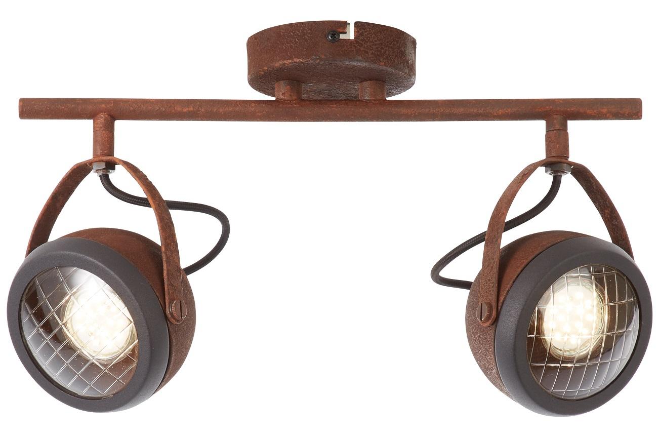 Plafondlamp Relax 2xGU10 max 2x4Watt in roestbruin | Brilliant