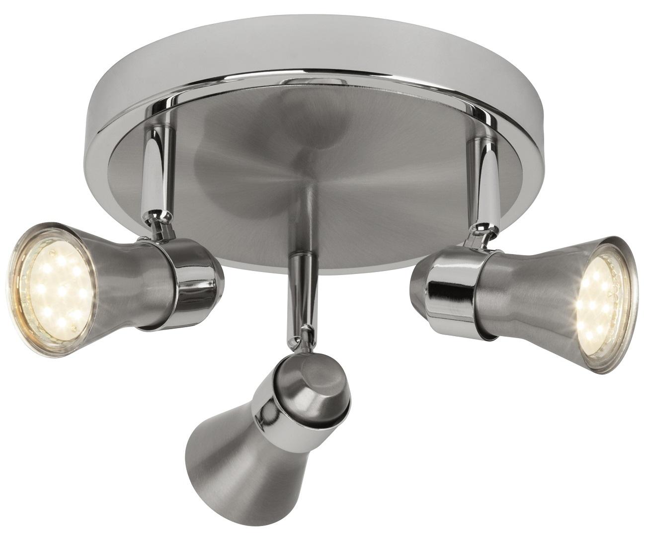 Plafondlamp Sonny 3xGU10 5Watt 3000K in chroom | Brilliant