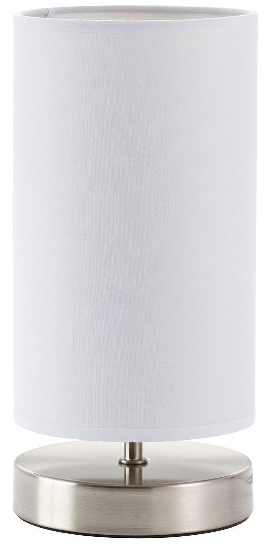 Tafellamp Charly 1xE14 max 40Watt in chroom met wit | Brilliant