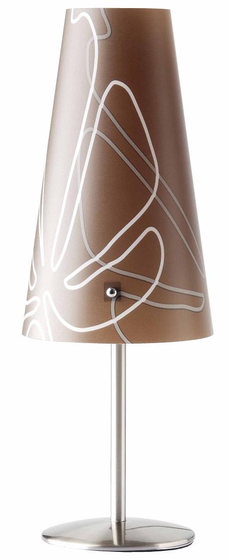 Tafellamp Isa 36 cm hoog in donkerbruin | Brilliant