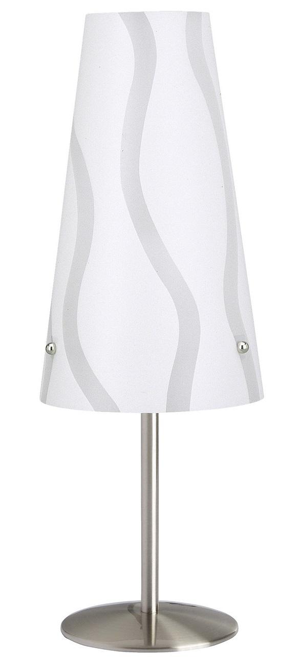 Tafellamp Isa 36 cm hoog in wit   Brilliant