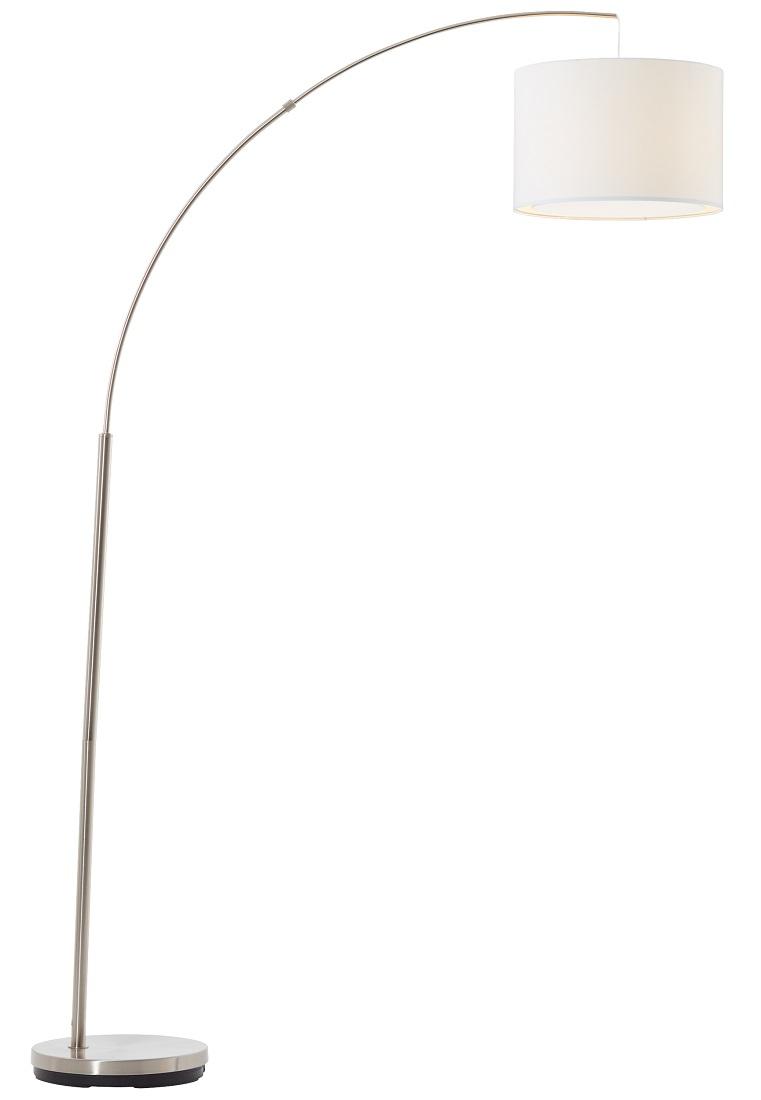 Vloerlamp Charly 1xE27 max 60Watt in chroom met wit   Brilliant