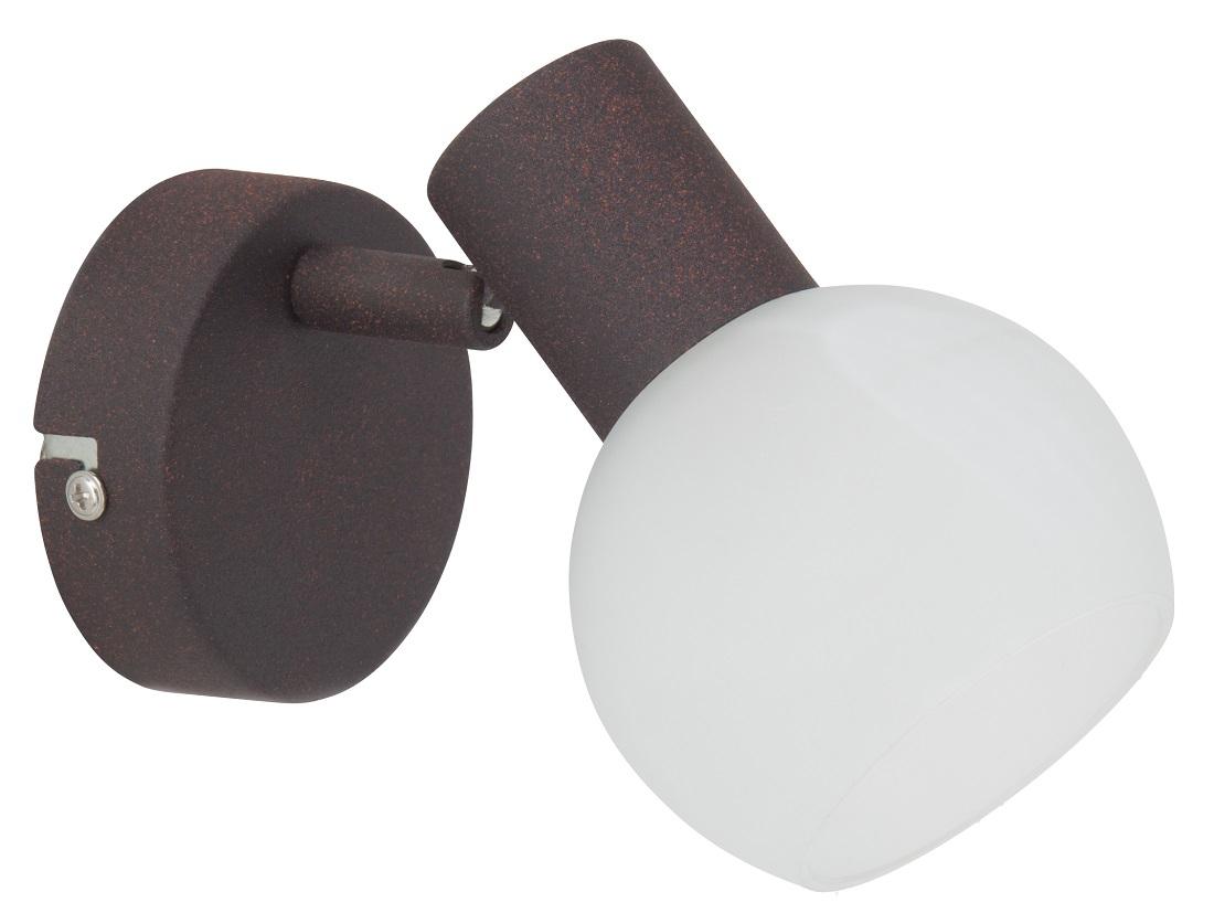 Wandlamp Gobi 1xE14 max 40Watt in bruin met wit | Brilliant