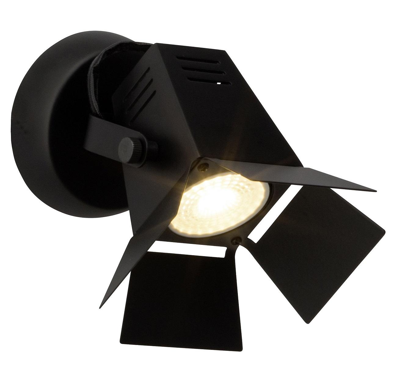 Wandlamp Move 1xGU10 max 5Watt in mat zwart | Brilliant