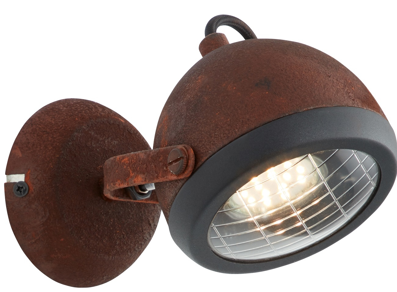 Wandlamp Relax 1xGU10 max 1x4Watt in roestbruin | Brilliant