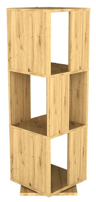 Draaikast Tower 108 cm hoog in artisan eiken | FD Furniture
